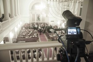 Filming classical concerts or church services requires the camera operator to be extra silent and invisible